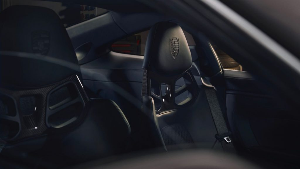 The seats of the 911 GT3