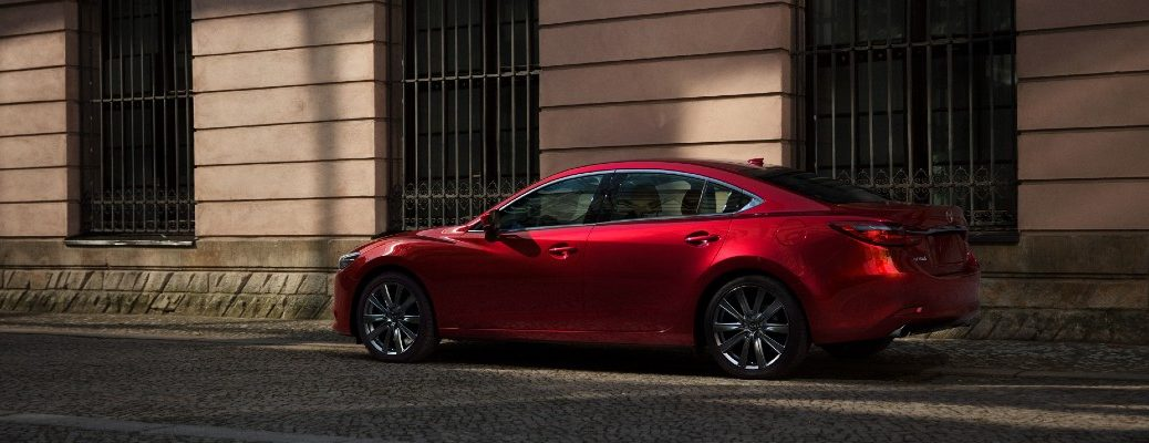 The 2021 Mazda6 parked on the street.