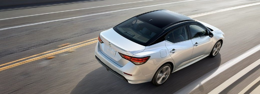 2021 Nissan Sentra driving on a road