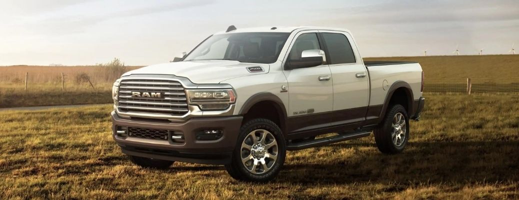 2021 RAM 2500 parked in the grass field