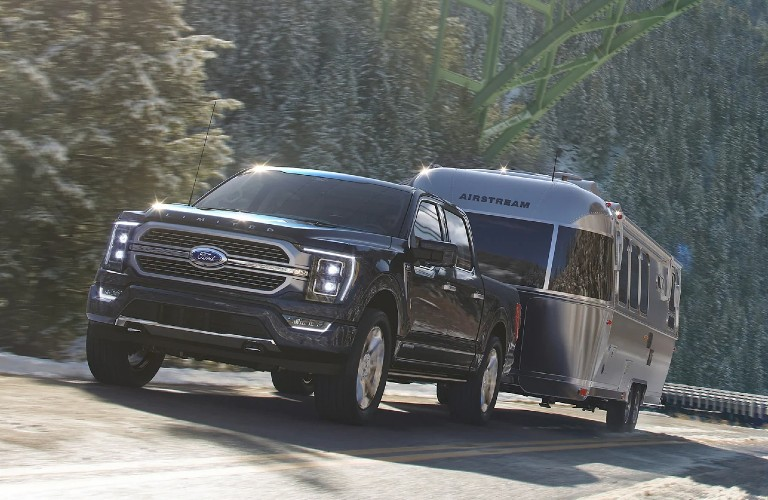 2021 Ford F-150 towing a camper