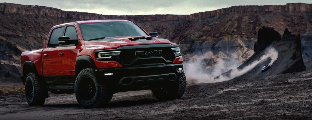 2021 Ram 1500 in some kind of crater