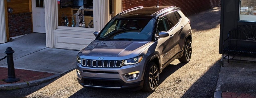 2021 Jeep Compass eases itself down an incline