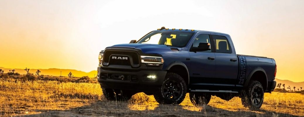 Sideview of a 2022 Ram 2500 under the sun. What are the engine specifications?