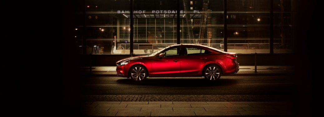 2019 Mazda6 red parked on street
