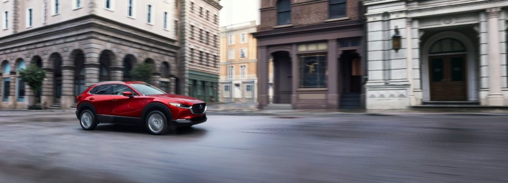 2020 Mazda CX-30 exterior side red