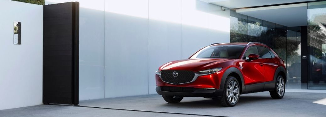2020 Mazda CX-30 parked by wall