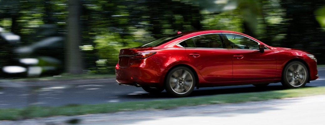 The 2021 Mazda6 on the road.