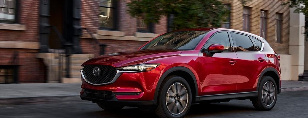 Red color 2021 Mazda CX-5 parked