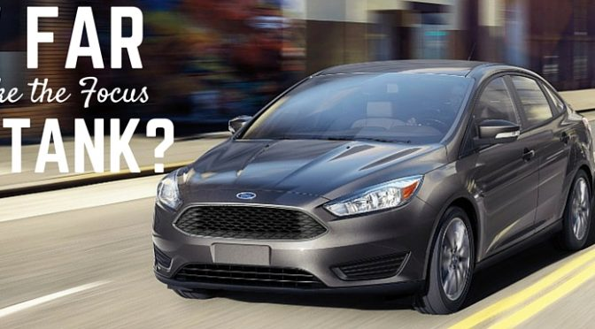 How far does the Ford Focus go on a single tank of gas?