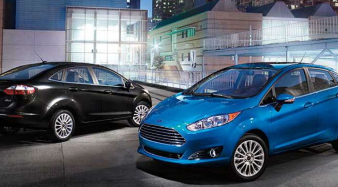Two Fiestas in Blue Candy and Shadow Black