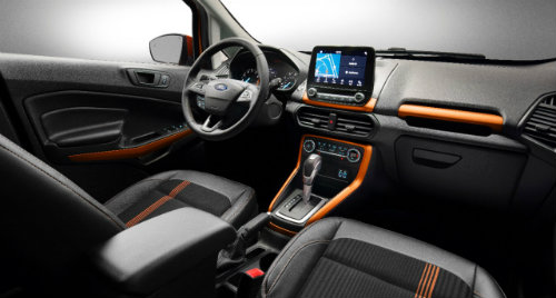 dashboard view of the 2018 Ford EcoSport