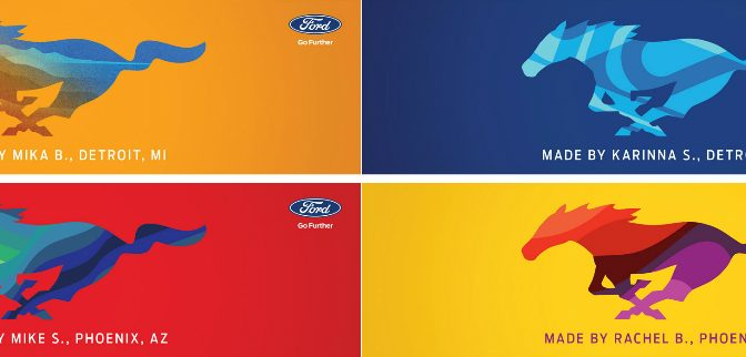 Four Designs from the Ford Mustang Personalize Your Pony Experience on Facebook