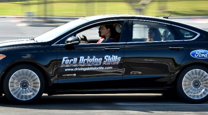 Side View of Ford Driving Skills for Life Car