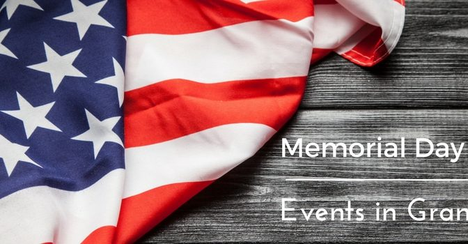 Memorial Day Weekend Events in Grand Junction Title and an American Flag