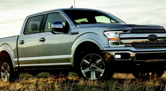 Silver 2018 Ford F-150 Parked on a Grassy Hill