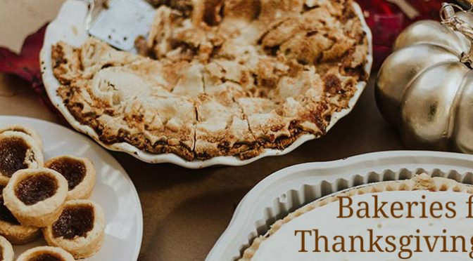 Bakeries for Thanksgiving Pies Title and Several Pies