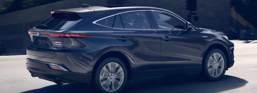 2021 Toyota Venza driving down a city street