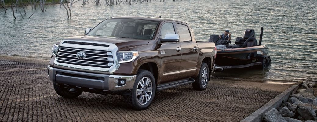 2021 Toyota Tundra towing a boat