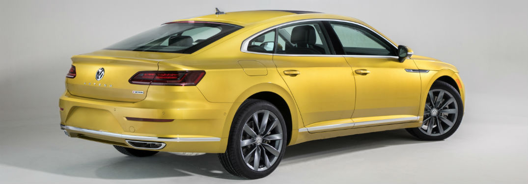 2019 VW Arteon exterior back fascia and passenger side on blank background