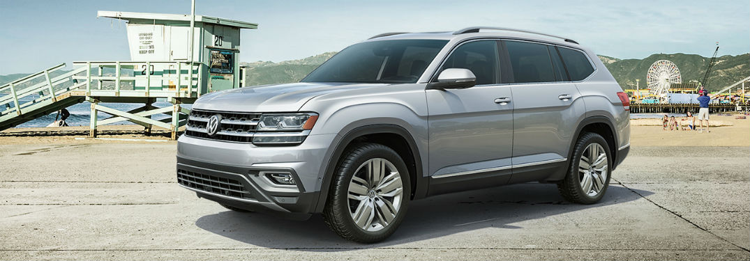2019 VW Atlas exterior front fascia and drivers side on beach