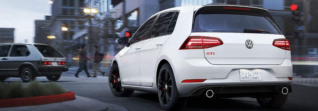 2019 Volkswagen Golf GTI driving on a road