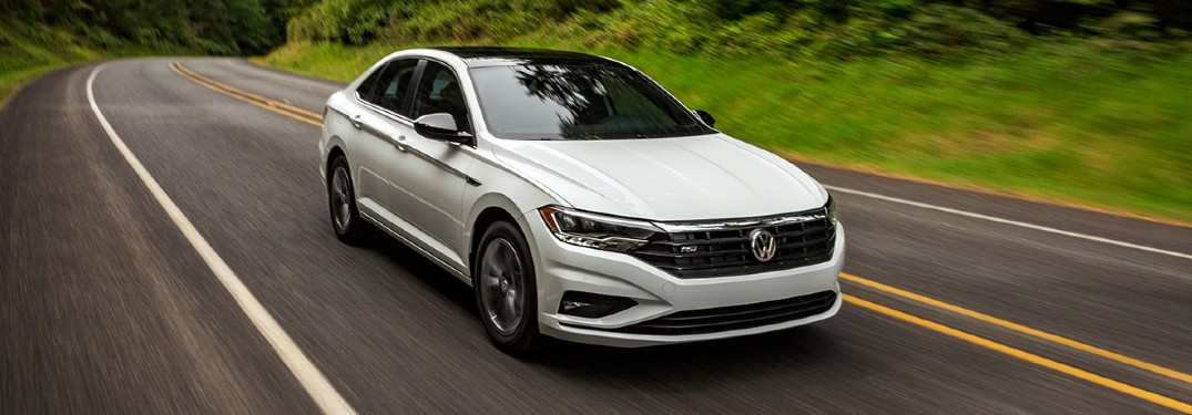 2020 Volkswagen Jetta driving down a country road
