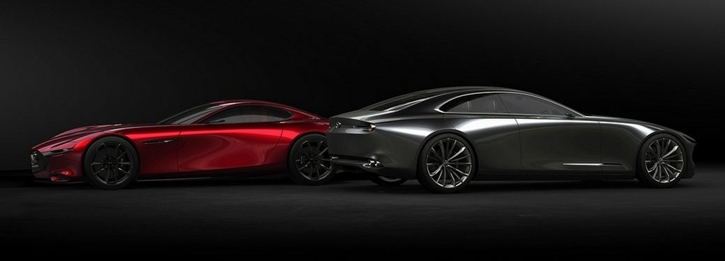 2018 mazda vision coupe and kai concept models
