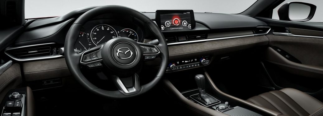2018 mazda6 dashboard steering wheel and infotainment system
