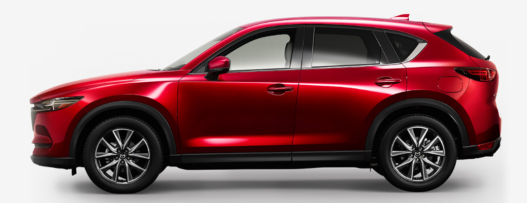 2018 Mazda CX-5 disel exterior side shot with red paint job