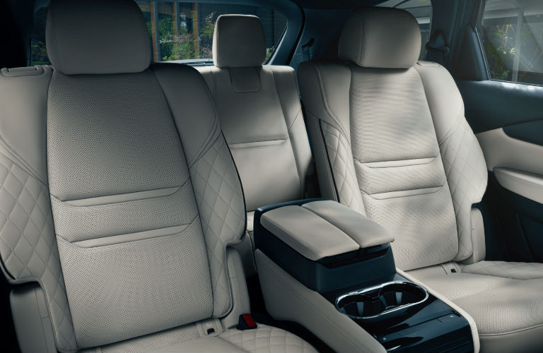 The rear interior view of the seats inside a 2021 Mazda CX-9.