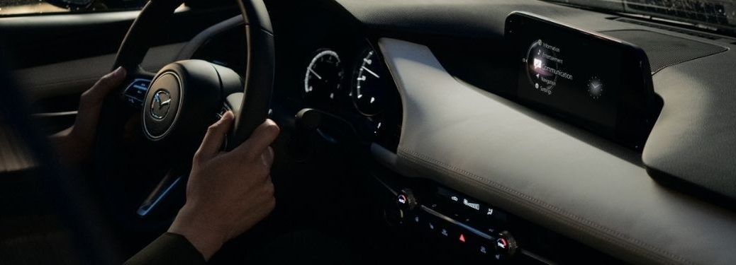 2021 Mazda3 Sedan Cabin View with infotainment system