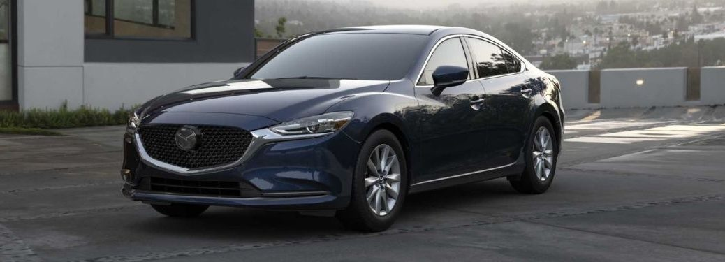 2021 Mazda6 Blue Front and Side View