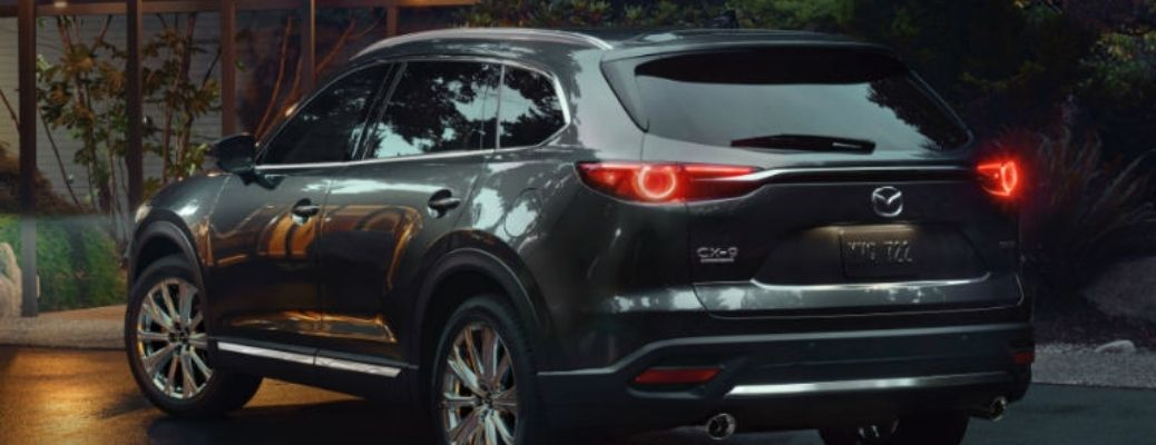 Exterior shot of the rear end of the new Mazda CX-9