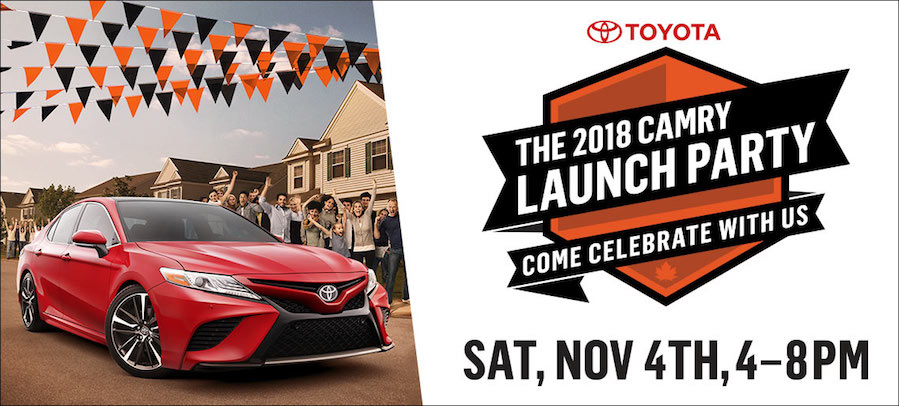 Novato Toyota Camry Launch Party Header