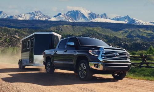 2021 Toyota Tundra towing trailer