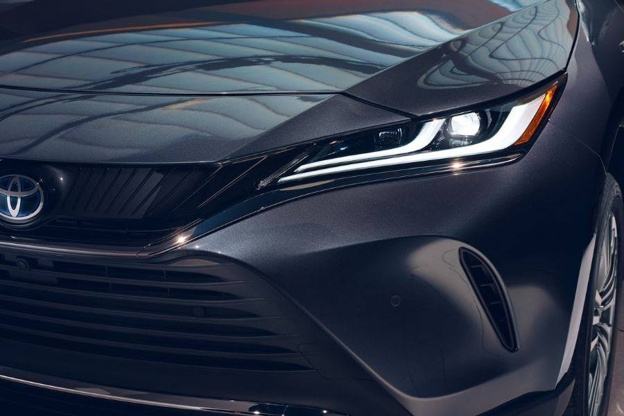 2021 Toyota Venza Left-side headlight close-up view.