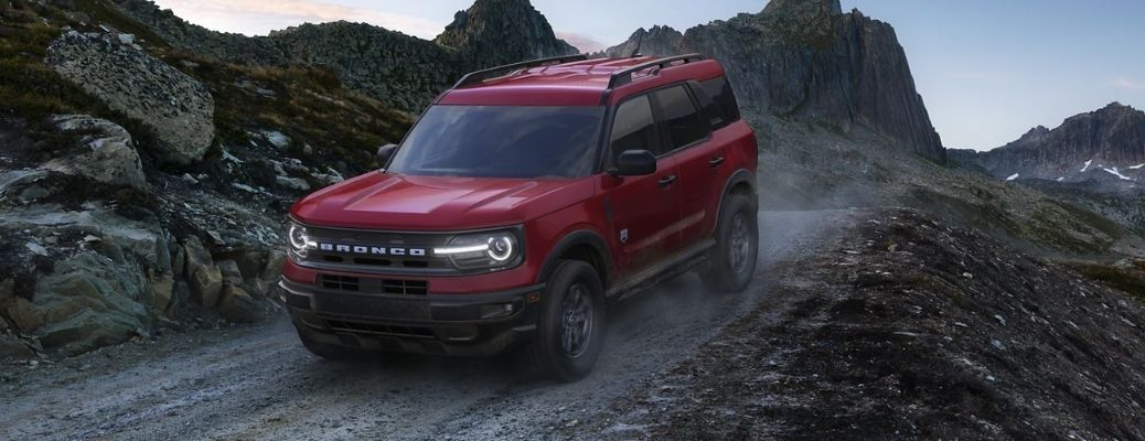 2021 Ford Bronco Sport on an off-road path