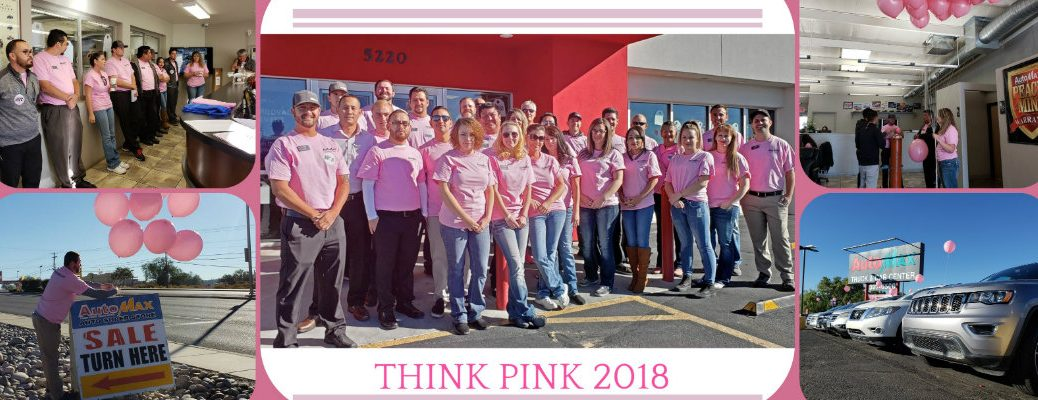 automax think pink 2018 breast cancer awareness sales event staff and dealership location picture collage