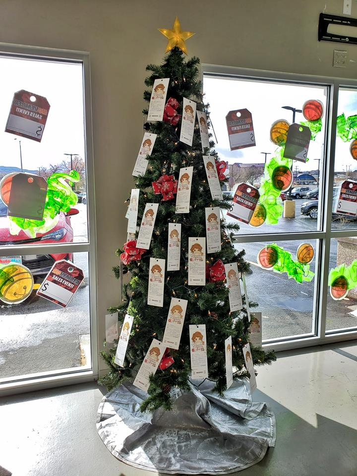 Image of the Angel Tree inside the dealership at AutoMax Truck and Car Center
