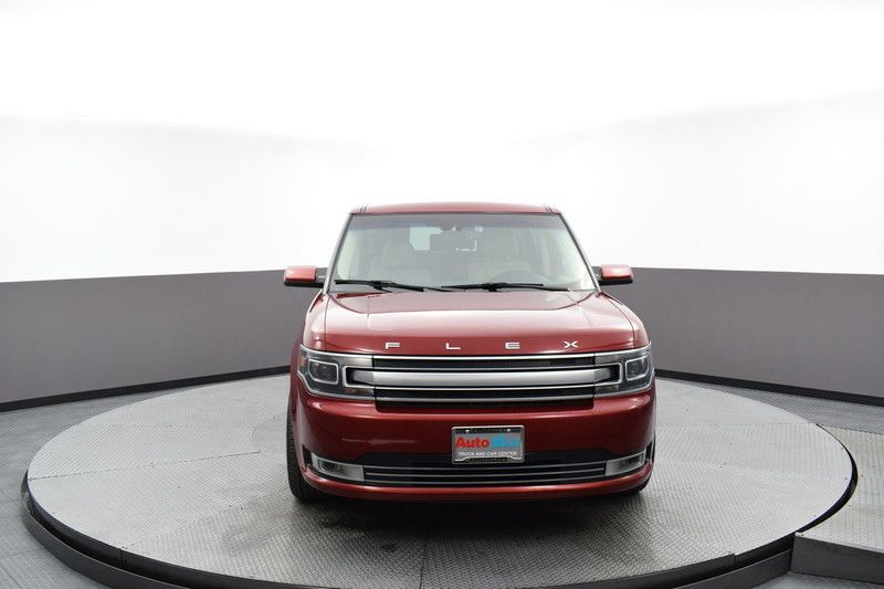 Front view of the red 2017 Ford Flex Limited AWD