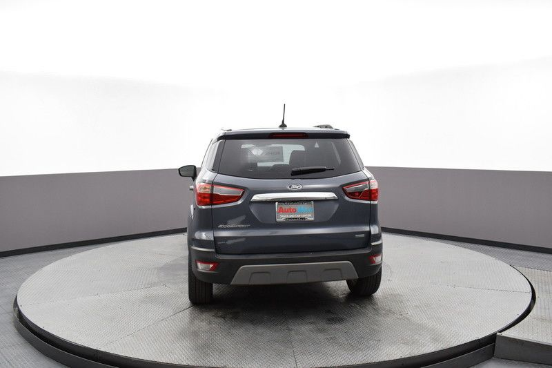 Rear view of the gray 2019 Ford EcoSport Titanium FWD