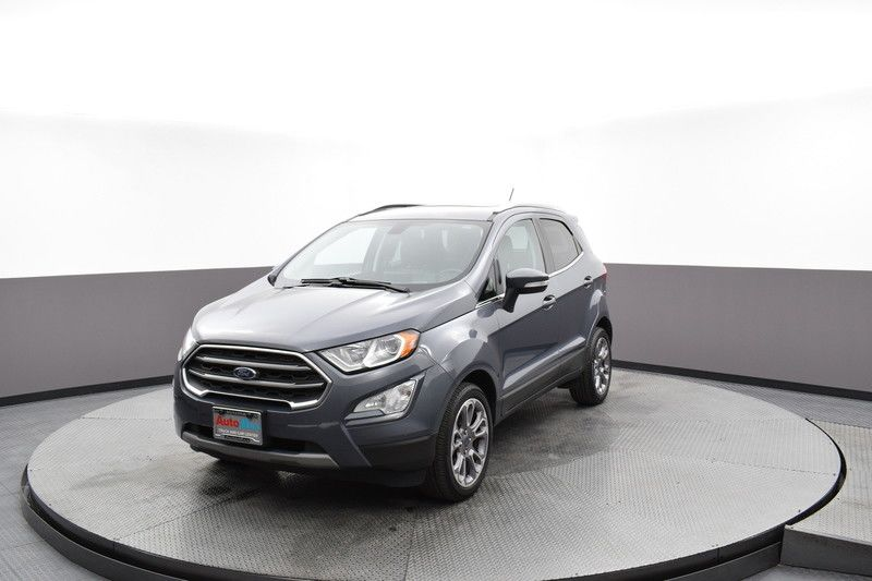 Front driver's side view of the gray 2019 Ford EcoSport Titanium FWD
