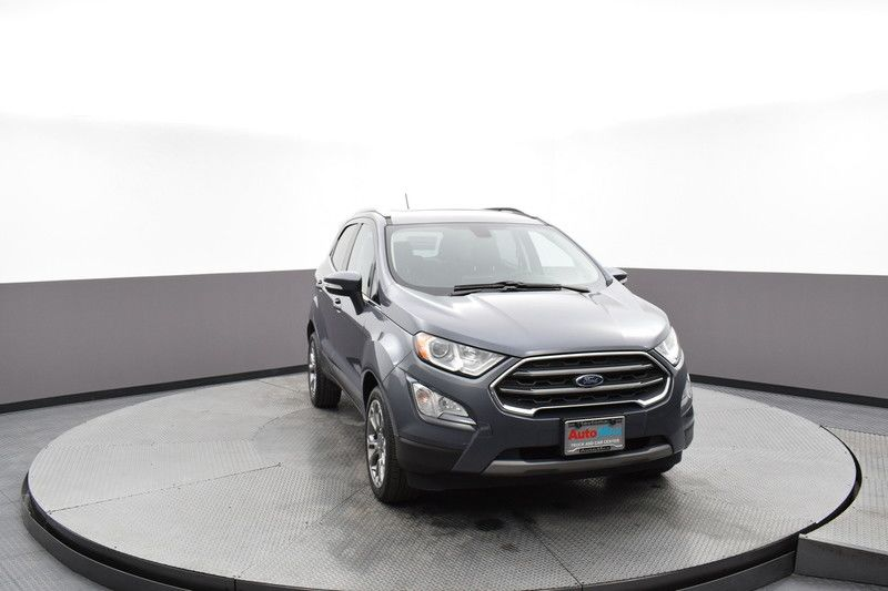 Front view of the gray 2019 Ford EcoSport Titanium FWD