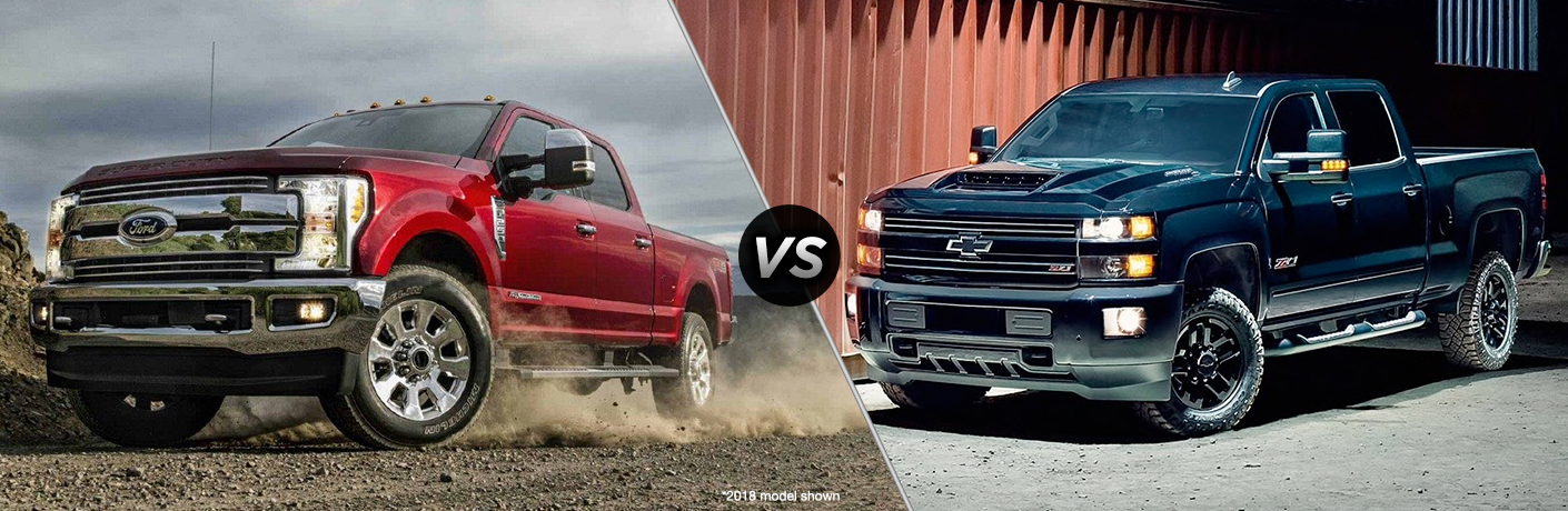 Ford Super Duty F-250 vs Chevrolet Silverado 2500