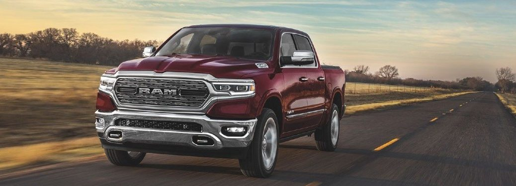 2020 Ram 1500 exterior shot white paint loading lumber in bed