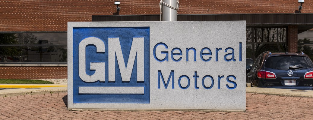 GM General Motors Logo in Stone on Brick path