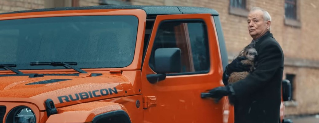 2020 Jeep Gladiator orange featuring Bill Murry and a groundhog