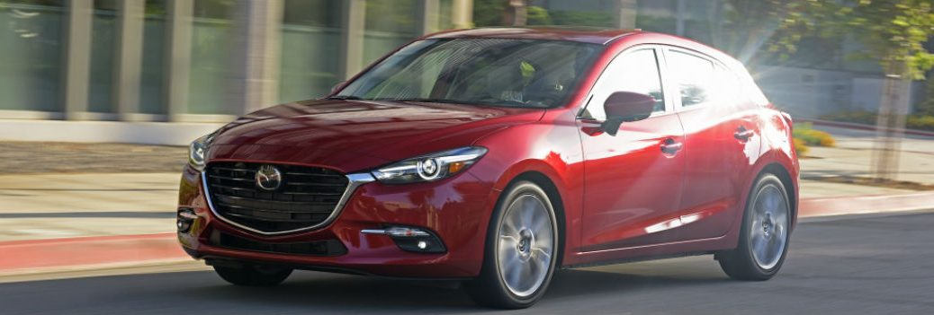 2017 mazda3 red exterior grille headlights front
