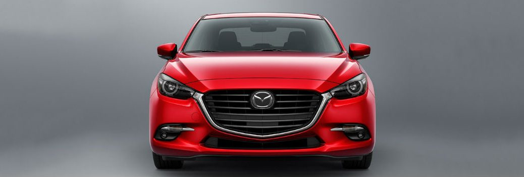 red 2018 Mazda3 front exterior